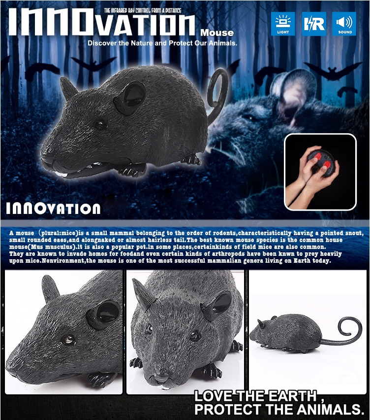 Infrared Remote Control Mouse Electric Simulation RC Mouse Toy