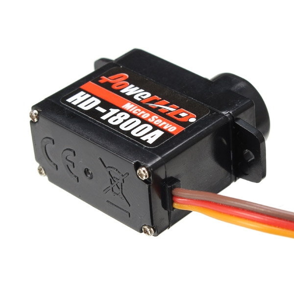 Power HD-1800A 1.3KG Micro Servo Steering Engine Compatible with Futaba/JR RC Car Part