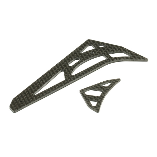 Global Eagle 480N RC Helicopter Part Carbon Fiber Horizontal Vertical Tail Fin