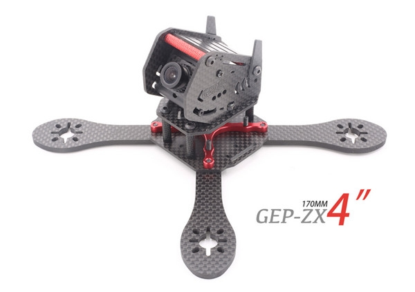 GEPRC GEP-ZX4 170mm 3k Carbon Fiber Frame Kit with 12V 5V PDB Board