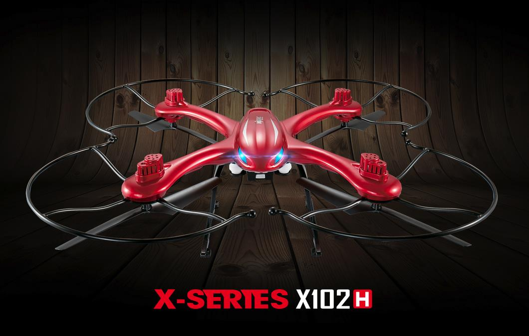 MJX X102H Upgrade X101 X-SERIES 2.4G 4CH 6Axis Altitude Hold One Key Return RC Quadcopter RTF