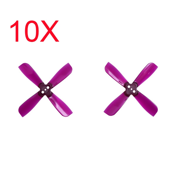 10 Pairs Gemfan 2035 2X3.5X4 4 Blade 1.5mm Mounting Hole CW CCW FPV Racing Propeller Purple