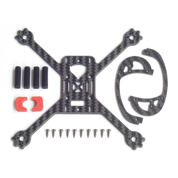 FlyFox EGG 135mm Wheelbase X Type 3mm Arm Frame Kit for RC Drone FPV Racing 18.8g