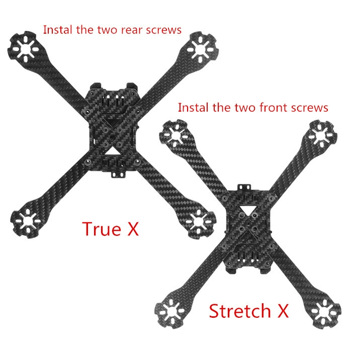 Realacc AK220 220mm Carbon Fiber True X Stretch X Adjustable Frame Kit 4mm Arm for RC Drone FPV Racing
