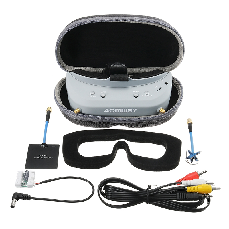 Aomway Commander V1 FPV Goggles Built-in Head Tracker HD Port DVR for RC Drone Upgraded Version