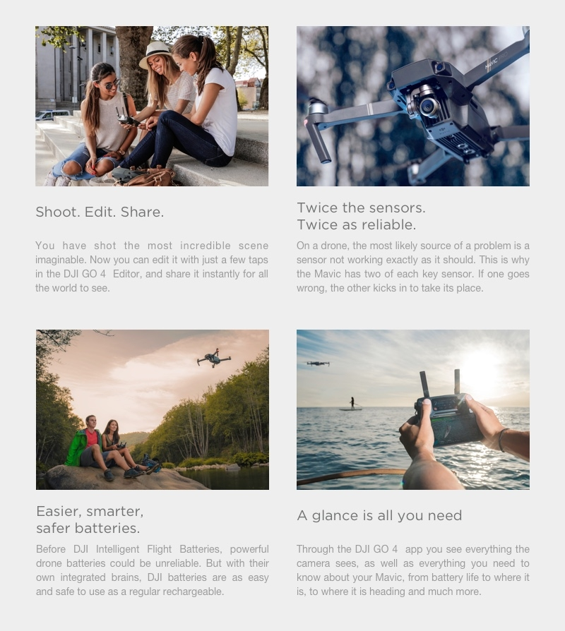 DJI Mavic Pro Alpine Combo OcuSync Transmission WIFI FPV With 3Axis Gimbal 4K Camera RC Drone Quadcopter