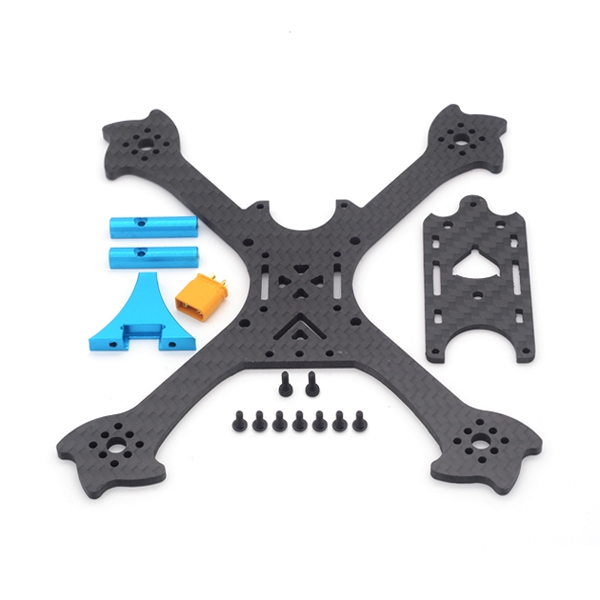 FlyFox No.3 Eiffel X Stretch 145mm Wheelbase 3mm Arm Carbon Fiber RC Drone FPV Racing Frame Kit