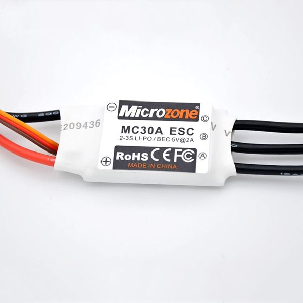 Microzone MC 2-3S 30A Brushless ESC With 5V/2A BEC For RC Model