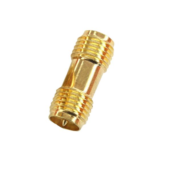 2PCS RP-SMA Female to RP-SMA Female RF Coaxial Adapter Connector