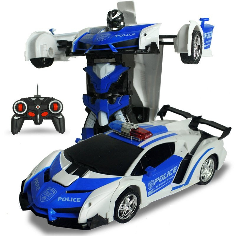 2 In 1 Rc Car Sports Wireless Transformation Robot Models Deformation Fighting Toys