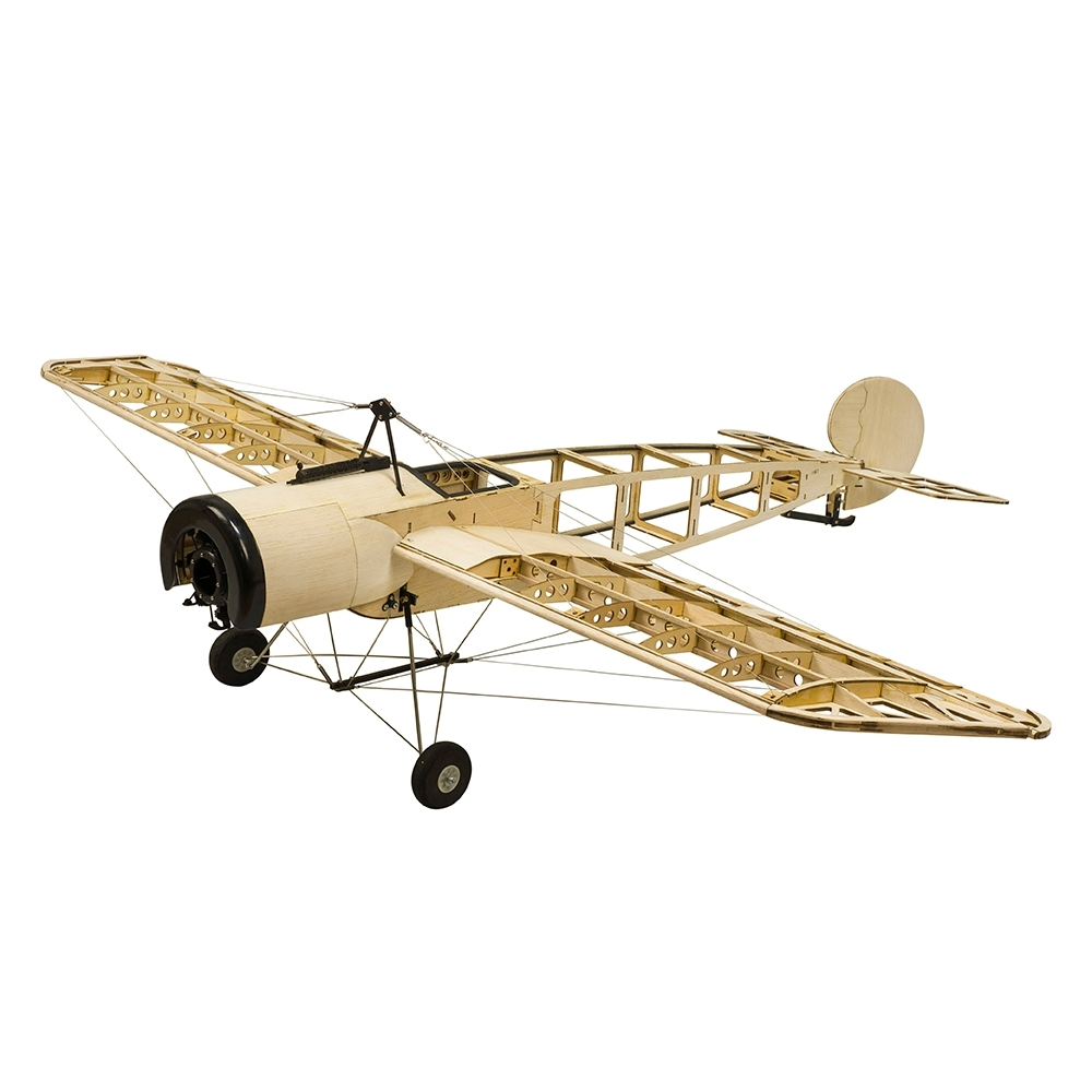 S20 Fokker-E 1200 1.2M Light Balsa Wood Wingspan RC Airplane DIY Model With/Without Power Spare Part
