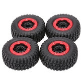 4Pcs AUSTAR AX-3009 08mm For 1/10 RC Car Short Course Truck Tire with Wheel Rim All Terrain Used
