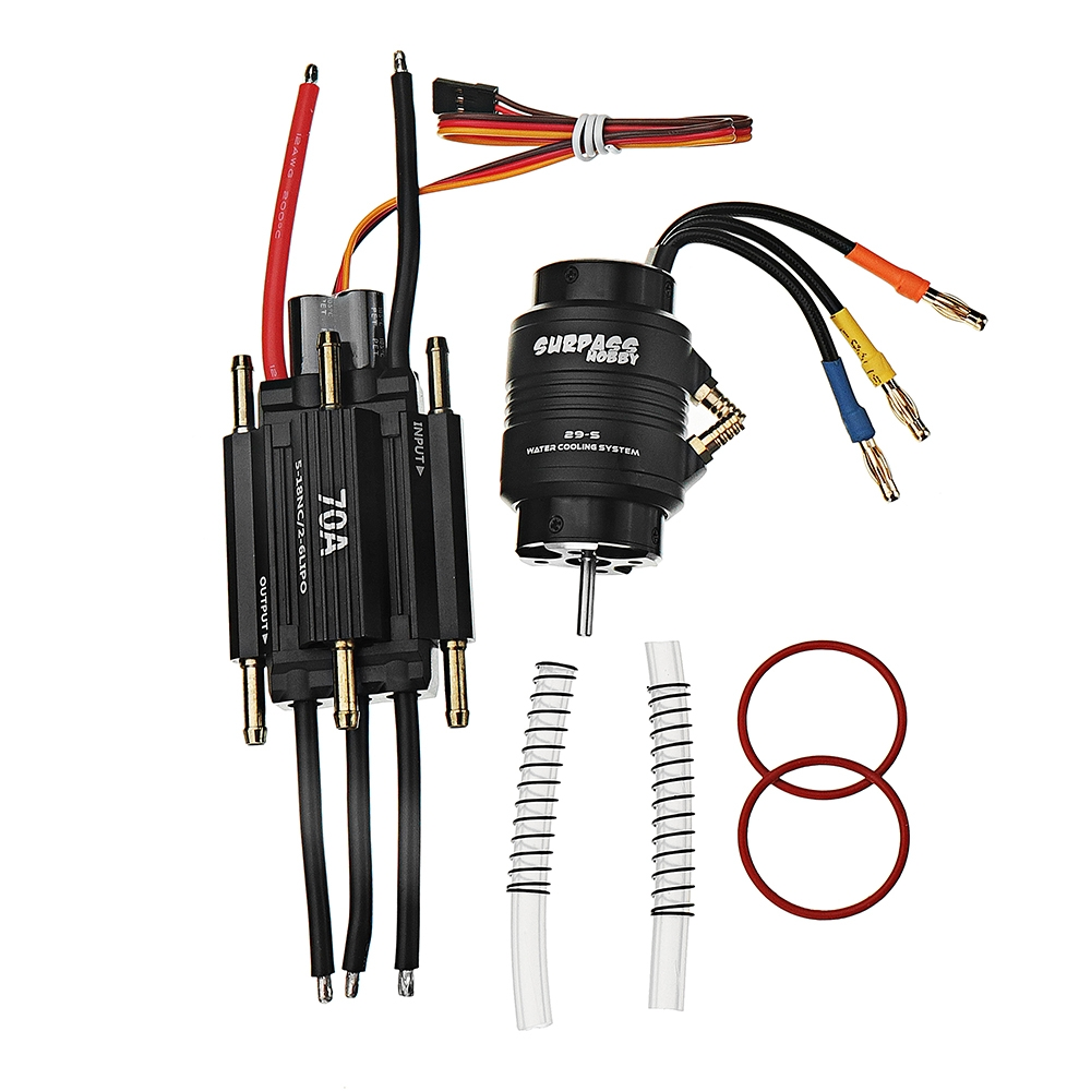 2958 4200KV Brushless Motor 70A ESC 29-S Water Cooling Jacket Combo Set for 2-3kg Rc Boat Parts