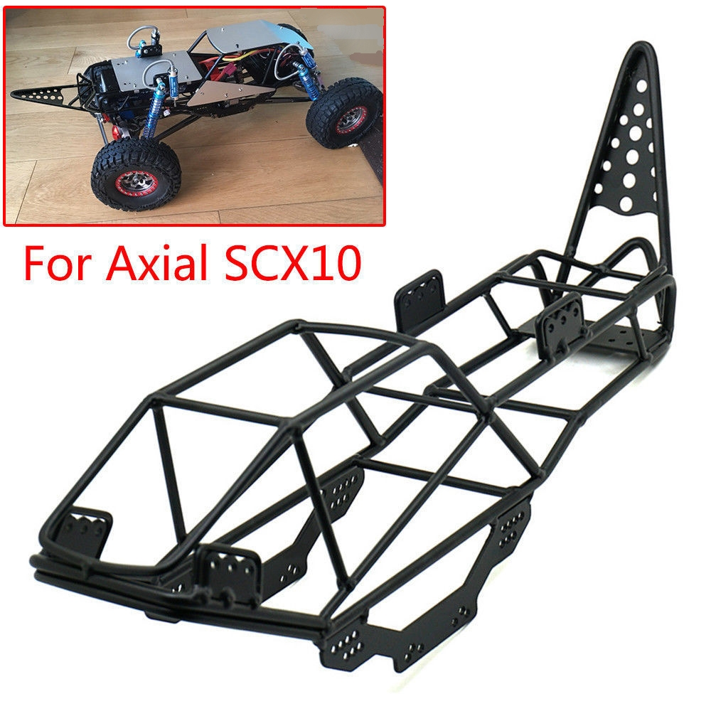 RC Car Parts Steel Frame Body Roll Cage Black For 1/10 AXIAL SCX10 #B