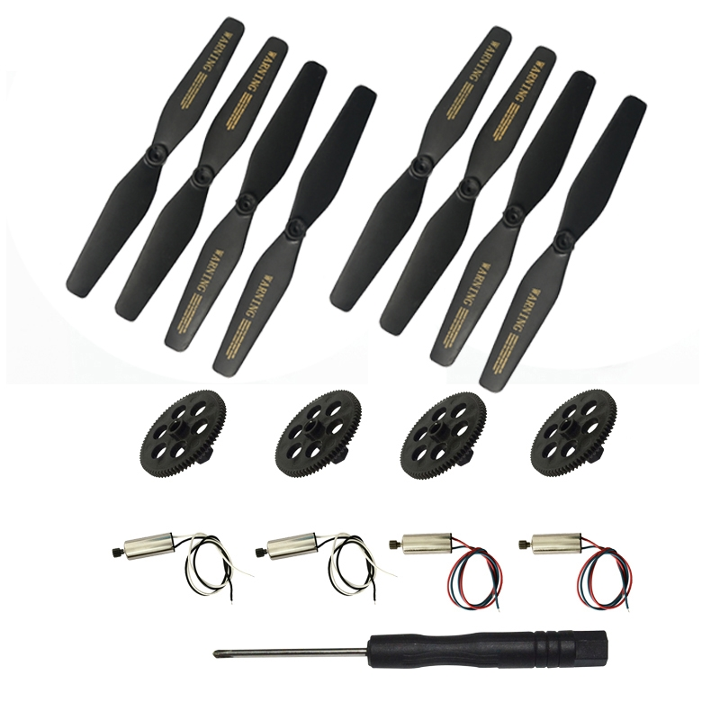 VISUO XS809S RC Quadcopter Spare Parts Crash Pack Propeller Prop & Motor & Gear & Screwdriver