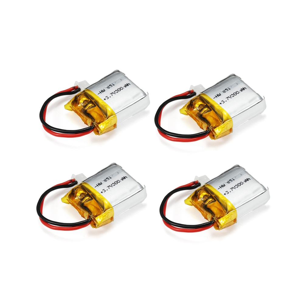 4PCS Eachine E012 E012HC E012HW RC Quadcopter Spare Parts 3.7V 200mAh 20C Lipo Battery