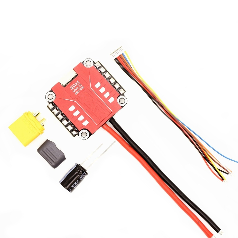 Blheli_32 4in 1 2-4S Lipo 40A ESC Dshot1200 Ready W/ Current Sensor for FPV Racing RC Drone