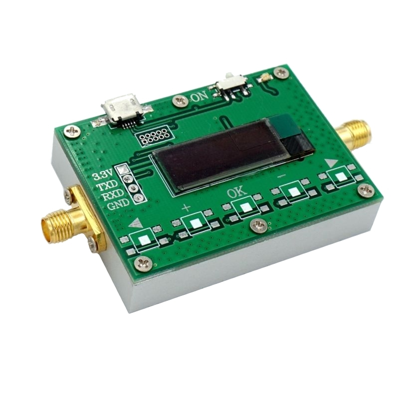 1Hz-2.4GHz Digital Radio Frequency Meter FH FL Measurement OLED Display