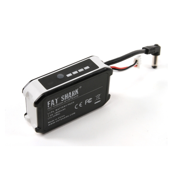 Fatshark 7.4V 1800mAh 2S DC 2.1mm*5mm Battery Pack With LED Indicator For FPV Goggles Headset