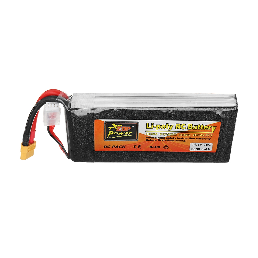 ZOP Power 11.1V 5000mAh 75C 3S Lipo Battery XT60 Plug for RC Model