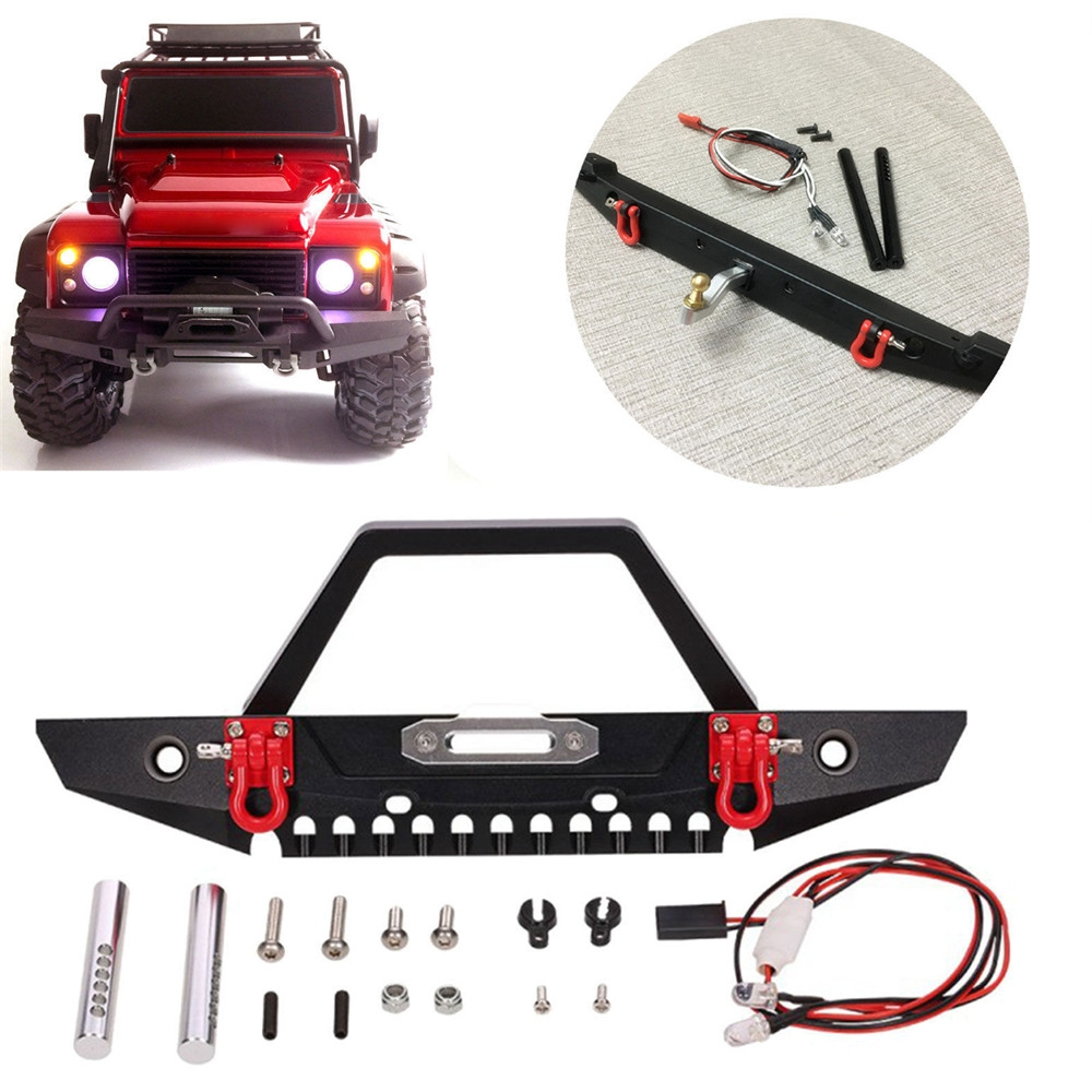 Metal Front RC Car Bumper Set For TRAXXAS TRX4 Axial SCX10 Crawler Parts
