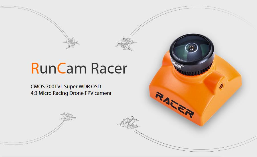 RunCam Racer Super WDR 4:3/Widescreen OSD Mini FPV Camera 6ms Low Latency Built-in Remote Control