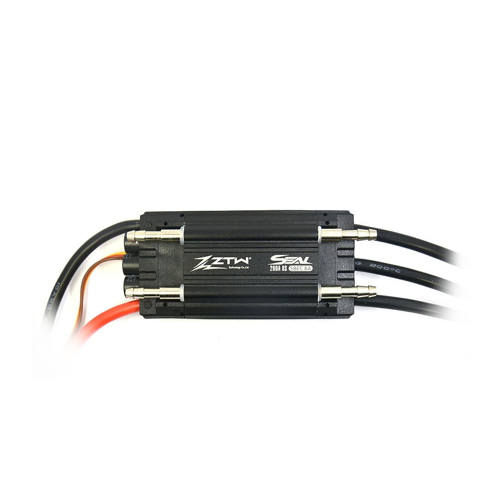 ZTW Seal 200A SBEC 8A 97*49*27mm Brushless Waterproof ESC 6V/8A BEC Output for Rc Boat Parts