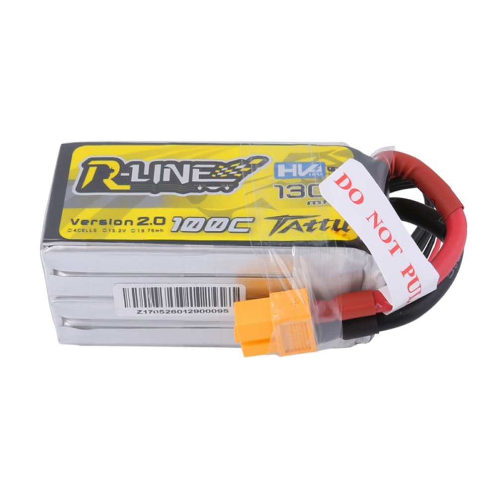 Gens Tattu R-Line 15.2V 1300mAh 100C 4S1P Lipo Battery With XT60 Plug For RC FPV Drone