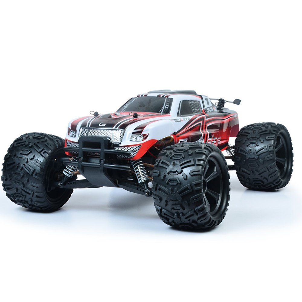 HG P104 1/10 2.4G 4WD 25km/h Rc Car Knight 550 Brushed Big Foot Off-road Truck RTR Toy