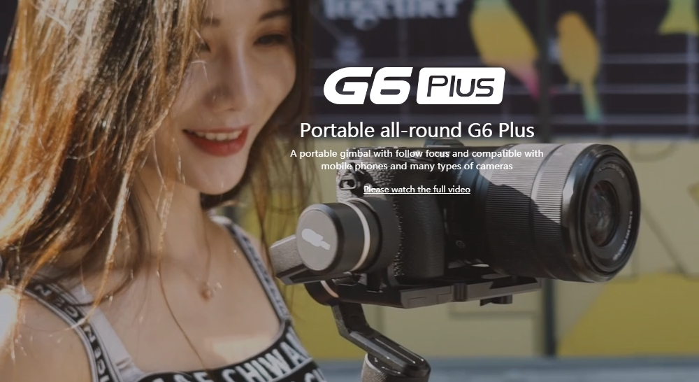 Feiyu G6P G6 Plus 3-Axis Stabilized Handheld Gimbal For Smartphone GoPro ILDC Pocket Camera