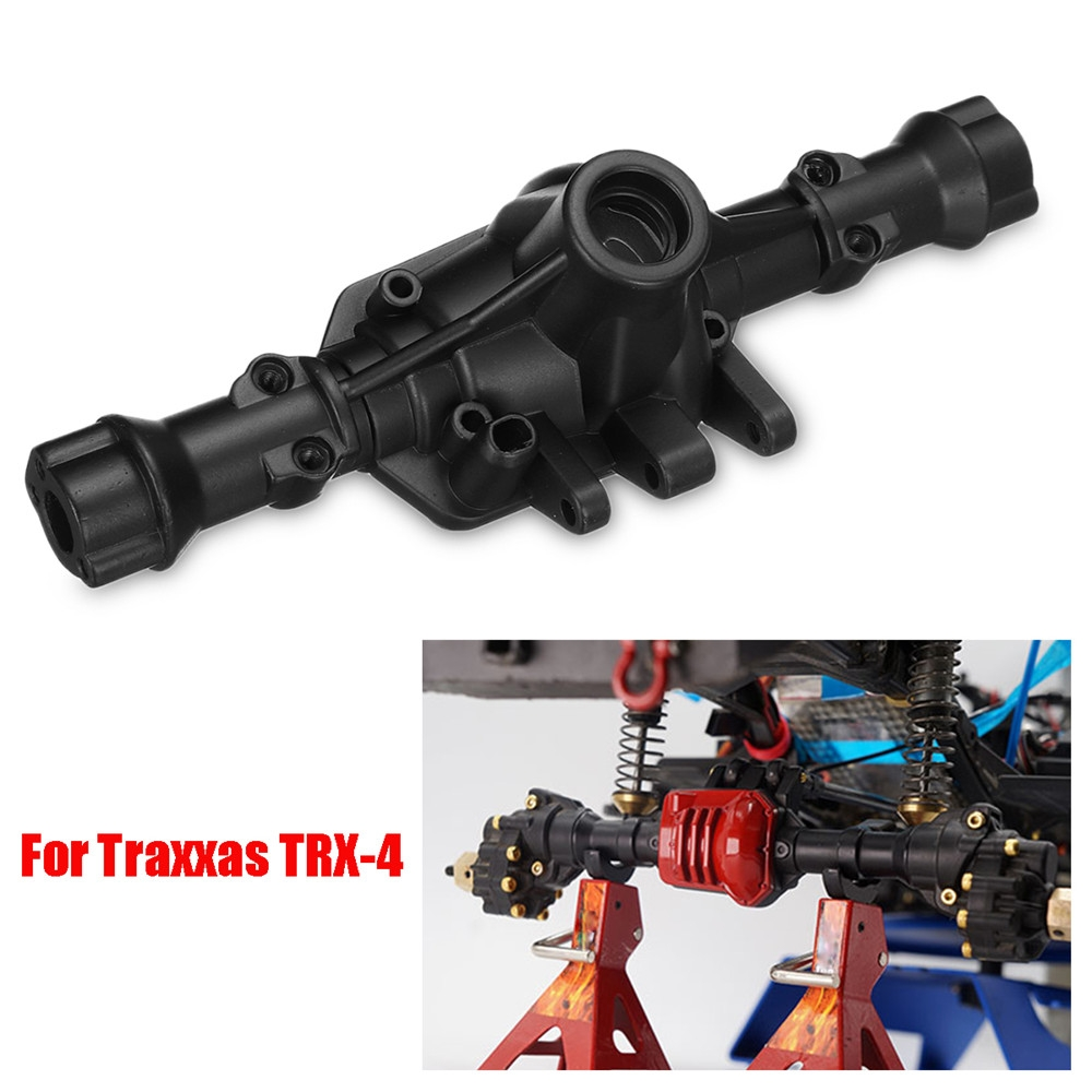Steel Alloy Rear Axle Housing Black for 1/10 Traxxas TRX-4 Rc Car Parts