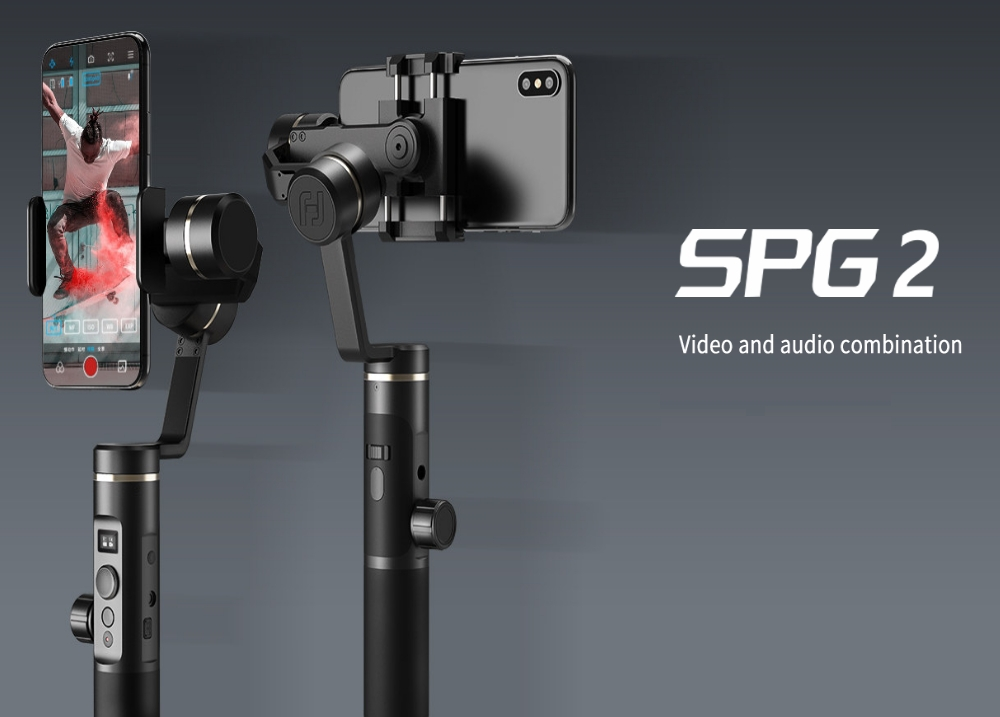 Feiyu Tech SPG2 3-Axis Brushless Handheld Gimbal Stabilizer With OLED Display for Smartphone