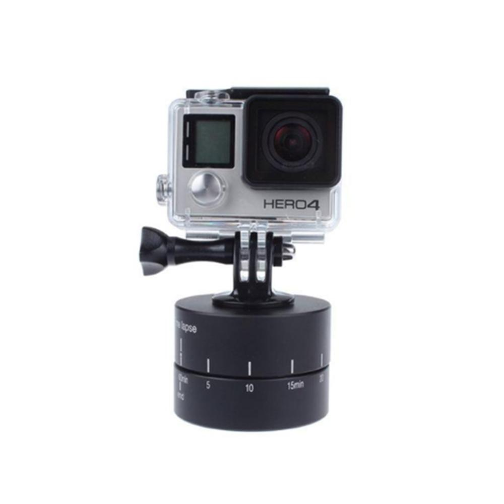 360° Rotating Automatic 60 Minute Time Lapse Timer Tripod Delay Automatic Tilt Head for Gopro