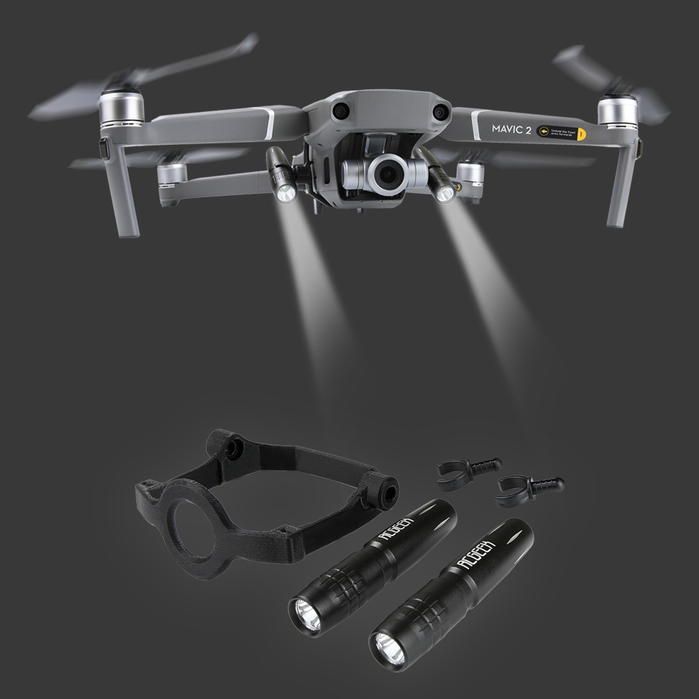 Night Flight LED Headlamp Searchlight Navigation Light Lamp Kit Bracket for DJI Mavic 2 PRO/ZOOM