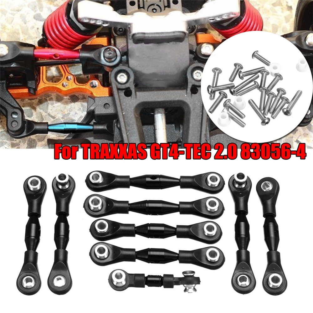1 Set Black GPM Aluminum Tie Rods Set for TRAXXAS GT4-TEC 2.0 83056-4 RC Car GT160 Parts