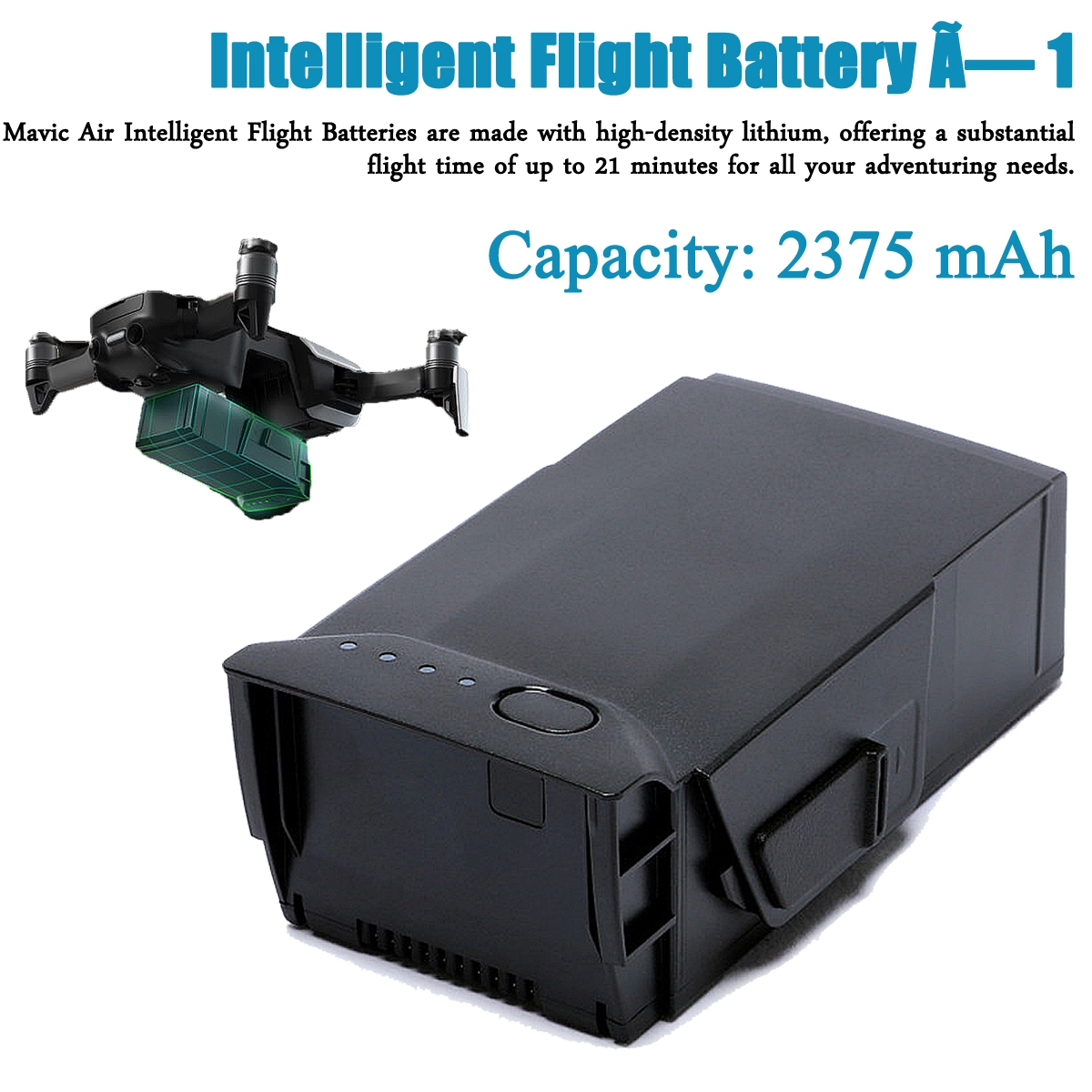 11.55V 2357mAh Intelligent Flight Rechargeable Battery for DJI Mavic Air