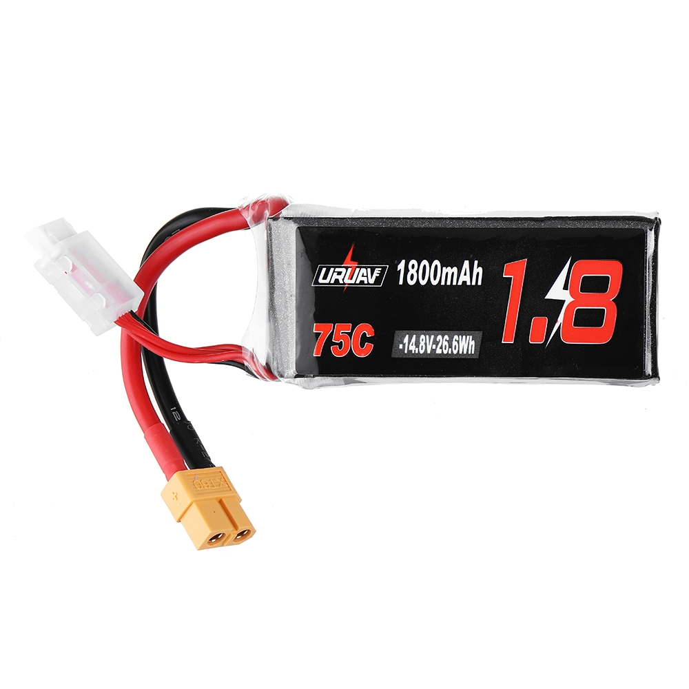 URUAV 14.8V 1800mAh 75C 4S Lipo Battery XT60 Plug for RC Drone FPV Racing