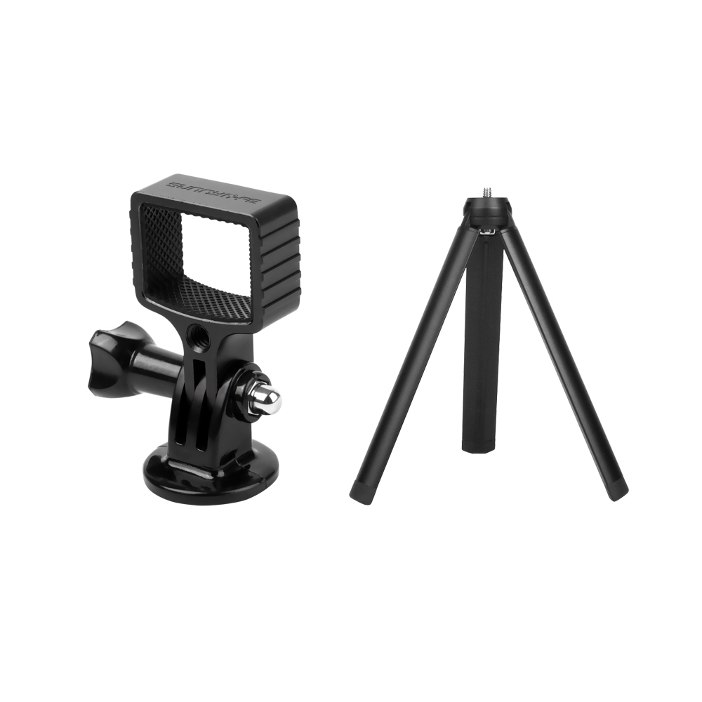Sunnylife OSMO Pocket Aluminium Adatper Mount Gimbal Expansion Bracket with Tripod For DJI Selfie Tripod Bycle Car Sucker Clamp Accessories