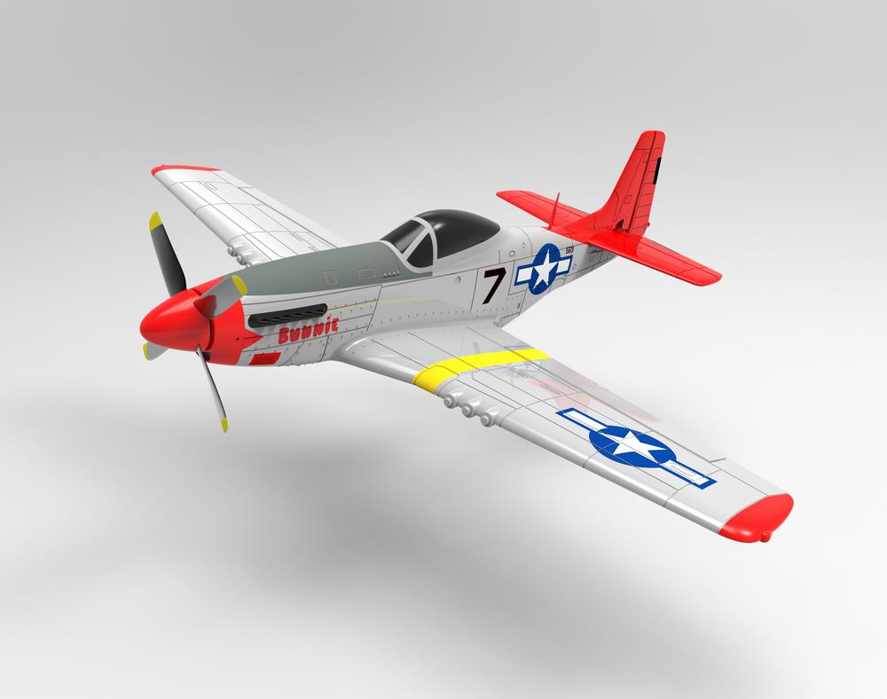 Volantex RC 768-1 Mustang P51D 750mm Wingspan EPO Warbird RC Airplane PNP