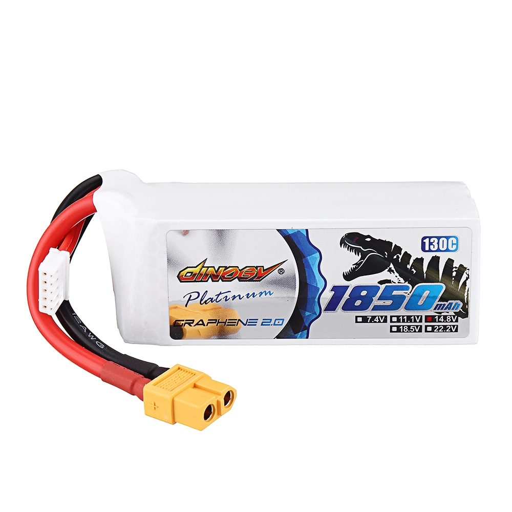 DINOGY ULTRA GRAPHENE 2.0 14.8V 1850mAh 130C 4S Lipo Battery XT60 Plug for RC FPV Racing