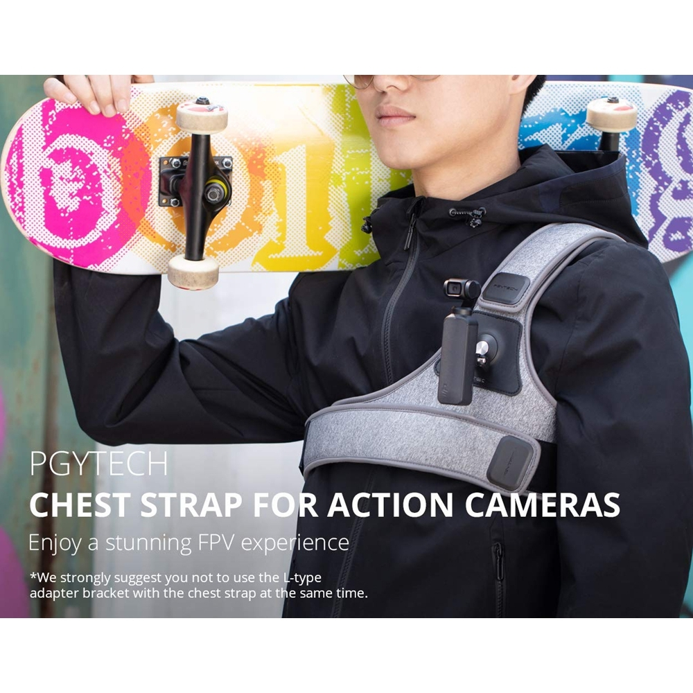 PGYTECH Adjustable Chest Strap Harness Bracket Mount for DJI Osmo Pocket Gimbal Gopro Series