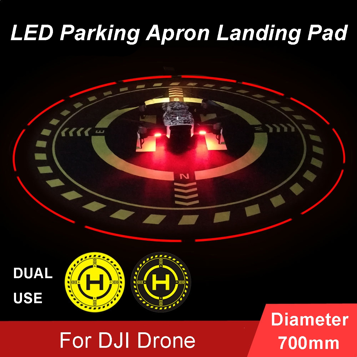 70cm LED Parking Pad Apron Light Night Flying for DJI Mavic Pro Air Yuneec Parrot Drone