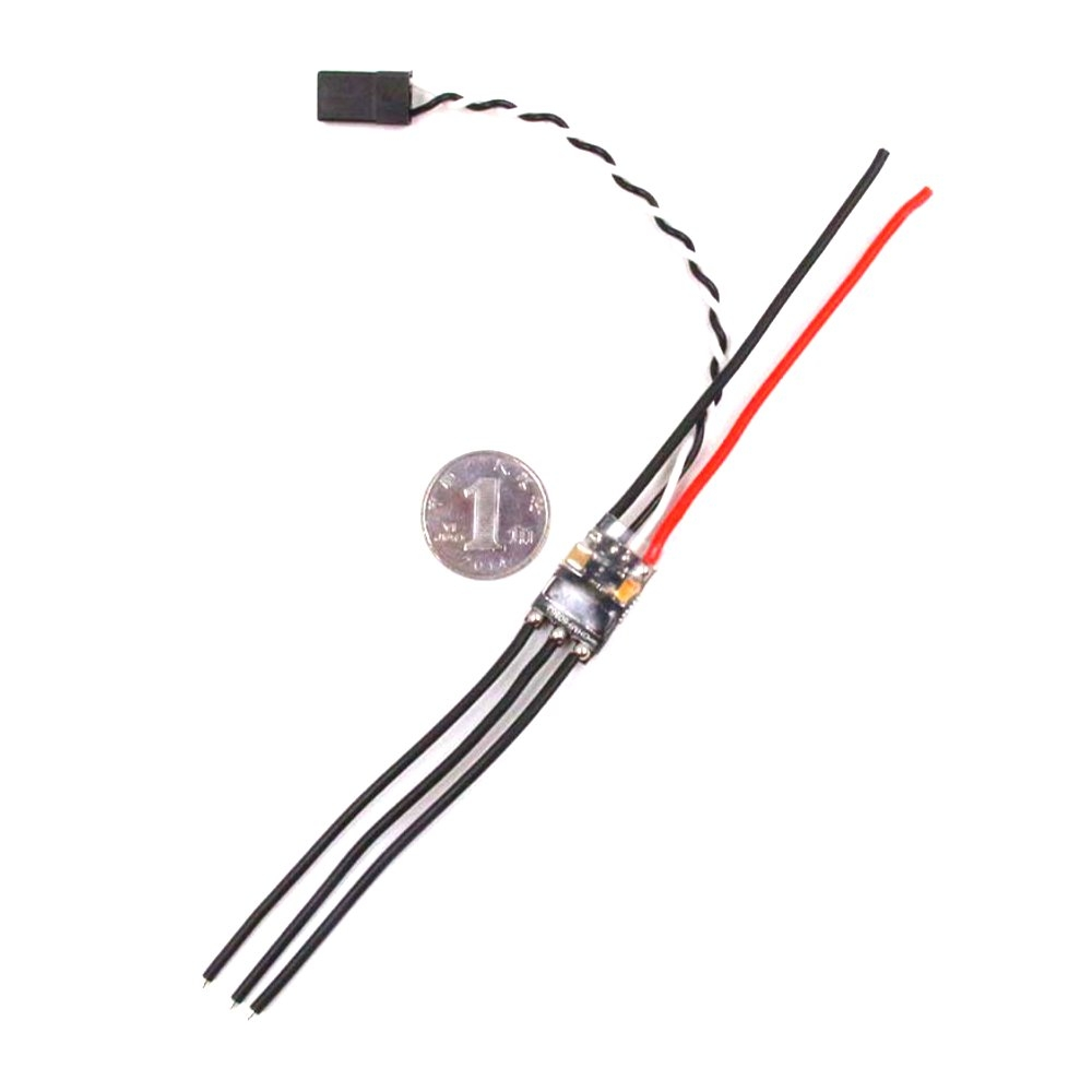 1-2S 7A Brushless ESC High Speed For RC Airplane 1400-4500KV/1104-4500KV/1811-3800KV Motor