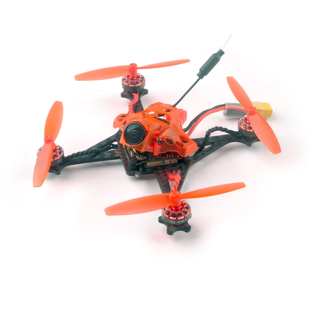 Summer Prime Sale Eachine RedDevil 105mm 2-3S FPV Racing Drone Whoop BNF Crazybee F4 PRO Caddx EOS2 5.8G 25~200mW Nano VTX Compatible Frsky Receiver