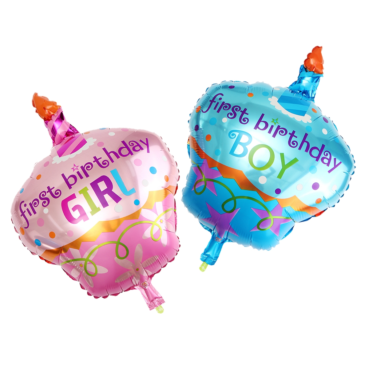 Boy/Girl Aluminum Foil Balloon Helium Balloons For First Birthday Party Decor
