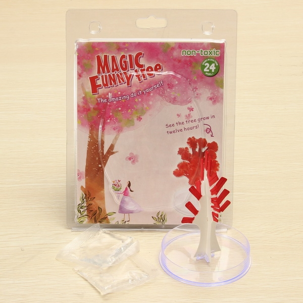 JA Magic Funny Growing Tree Blossom Paper Art Kids Educational Toy Decor