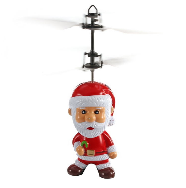 Induced Flying Santa Claus Inductive Father Christmas Toy Gift for Kid