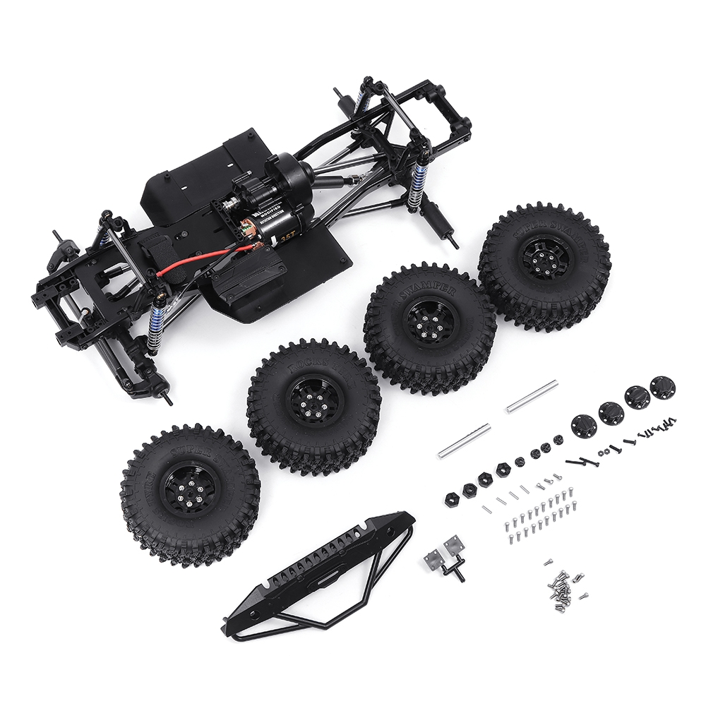 Metal Frame Chassis For SCX10Ⅱ 1/10 RC Car Vehicle Models Parts With 540 Motor