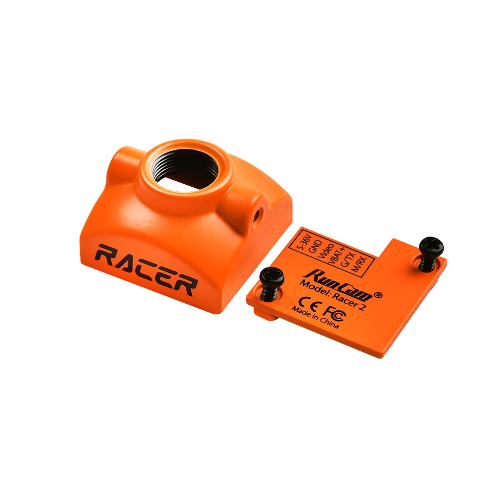 Camera Protective Case Mount for RunCam Racer2 FPV Camera Orange/Black