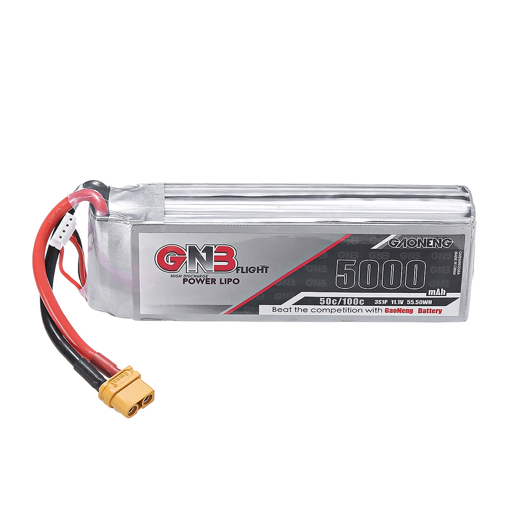 Gaoneng GNB 11.1V 5000mAh 50C 3S Lipo Battery XT60 Plug for RC Car Quadcopter